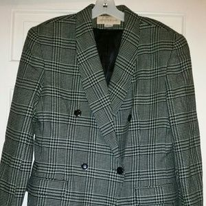 Jones New York Green Plaid Suit Jacket Sz 14